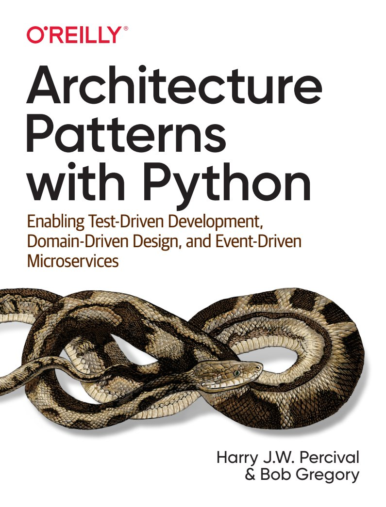Cover Image for Architecture Patterns with Python Book
